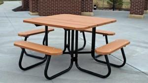 стол со скамейками для дачи
