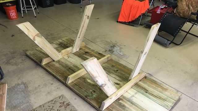 стол со скамейками своими руками