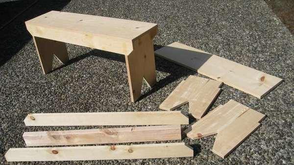 скамейка своими руками инструкция фото