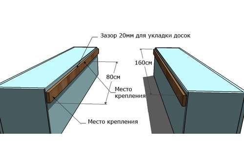 кровать из полок чертежи