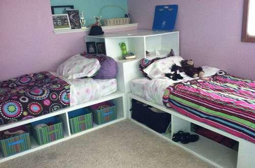 кровать из полок