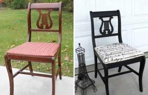 как поменять обивку стула