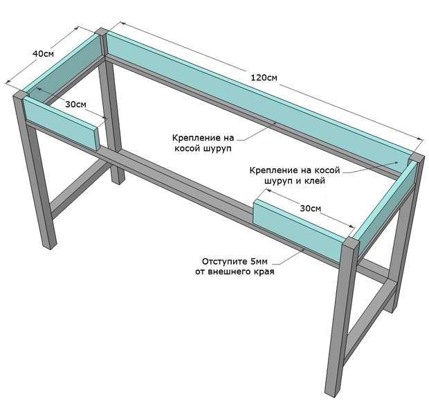 складной стол пошаговая инструкция