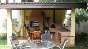 летняя кухня с навесом