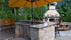 проект летней кухни в саду