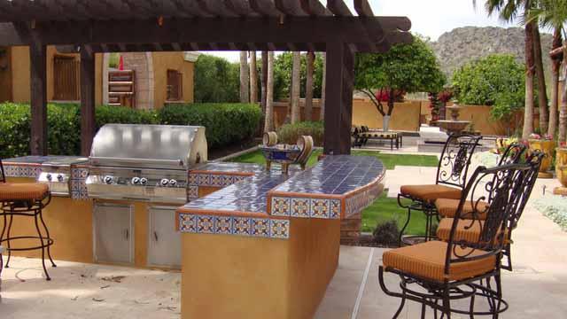 летняя кухня плитка для столешницы