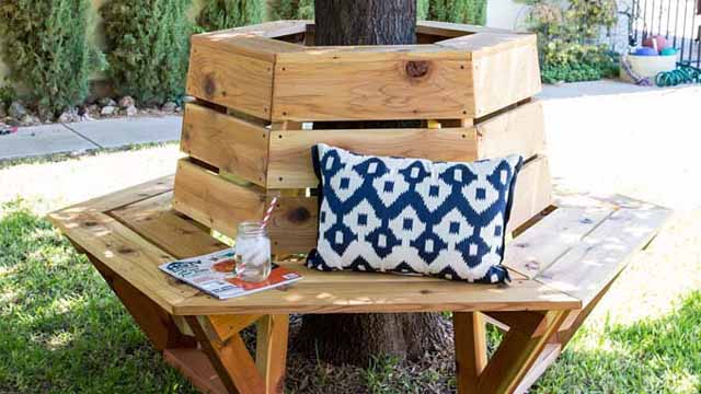 скамейки из дерева своими руками