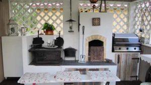 летняя кухня своими руками проект