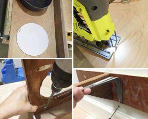подставка под миску для собак настенная
