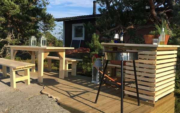 двор частного дома фото летней кухни