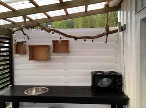 летняя кухня около дома фото
