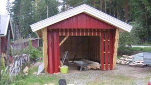 обустройство участка строительство гаража