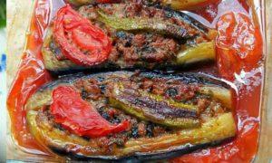 баклажаны фаршированные мясом в духовке