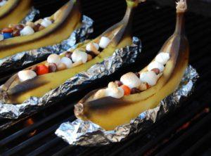 необычные рецепты для мангала. банановые лодочки