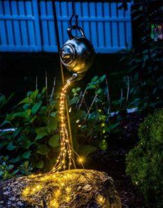красивый уличный светильник