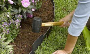 как установить садовый бордюр