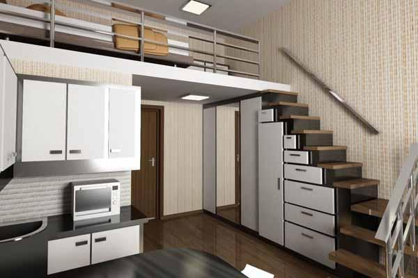 шкаф под лестницей