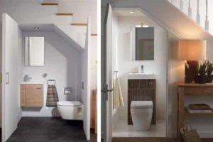 туалет под лестницей