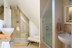 ванная под лестницей