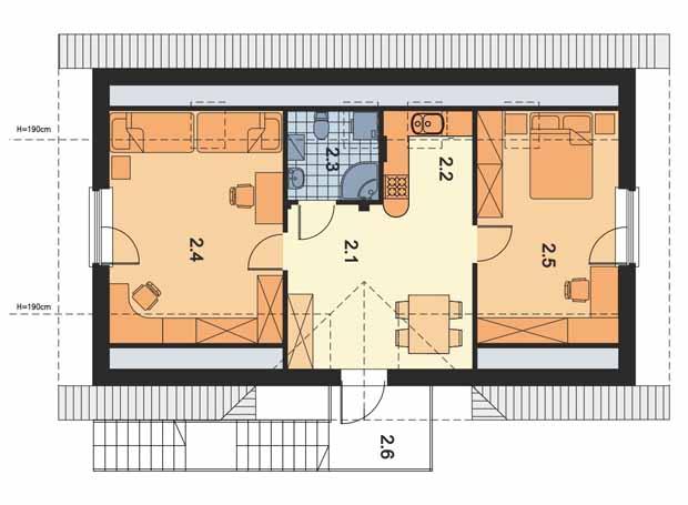 проект двухэтажного гаража с мансардным этажом