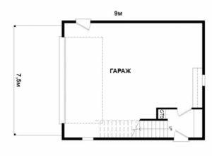 проект двухэтажного гаража