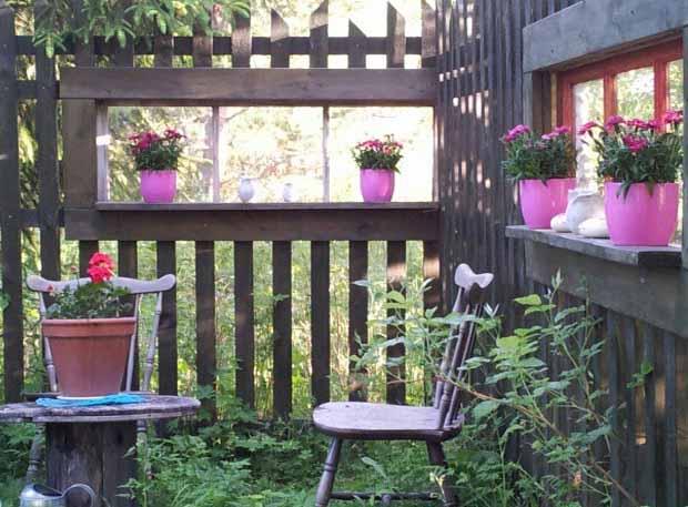 красивый сад с цветами