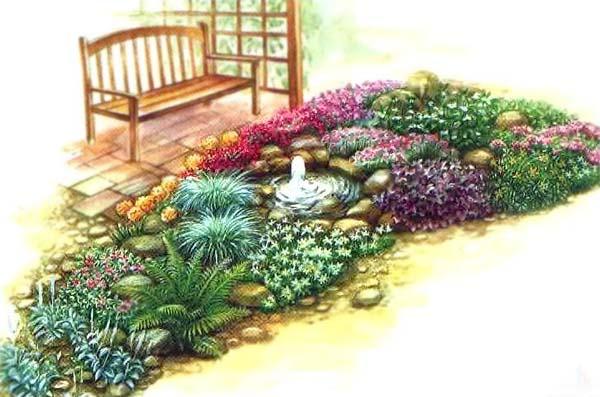 Схема красивого цветника с
