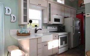 дачные домики кухня фото