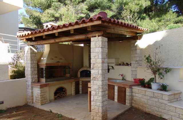 летняя кухня в дизайне дачного участка