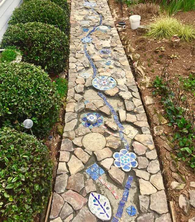 дизайн сада дорожки своими руками