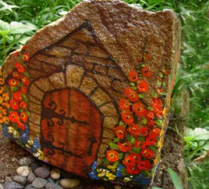 красивые поделки для сада домики из камней