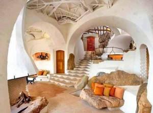 необычный дизайн интерьера дачного дома фото
