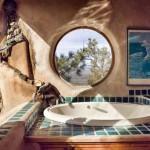 интерьер дачного дома из глины красивая ванная