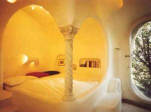 интерьер дачного дома спальня