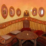 интерьер дачного дома кухонный уголок