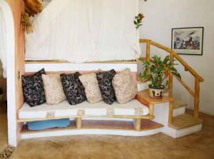 интерьер дачного дома сделанного из глины