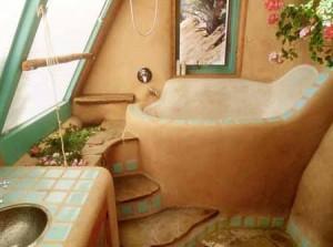 интерьер дачного дома ванная комната