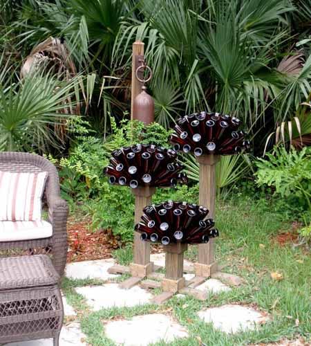 Поделки садовые из подручных материалов