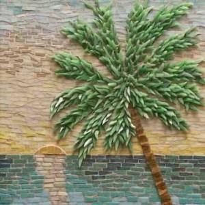 мозаика на заборе для дачи