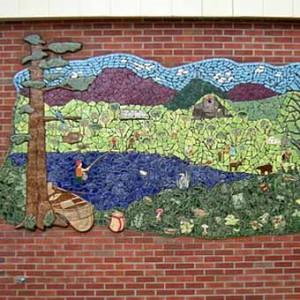 заборы для дачи фото мозаичное панно