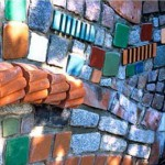 интересные заборы для дачи фото мозаика из кирпича