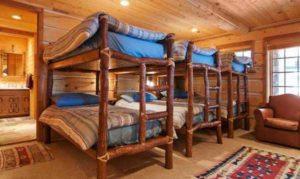 интерьер деревянного дома детская спальня