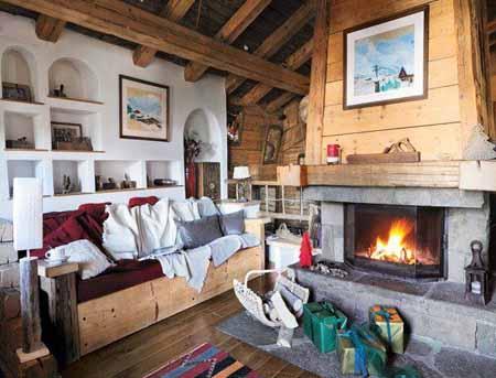 красивые интерьеры деревянного дома