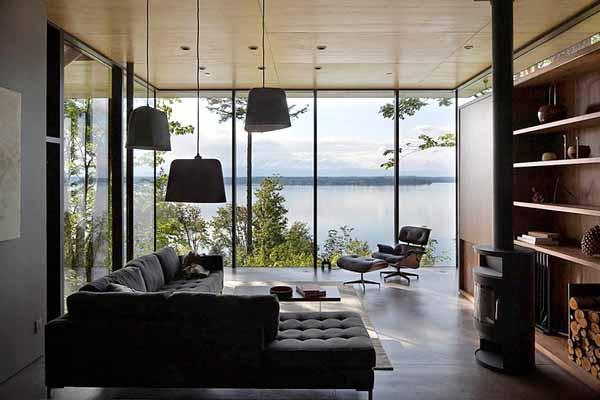 проекты дачных домов фото гостиной