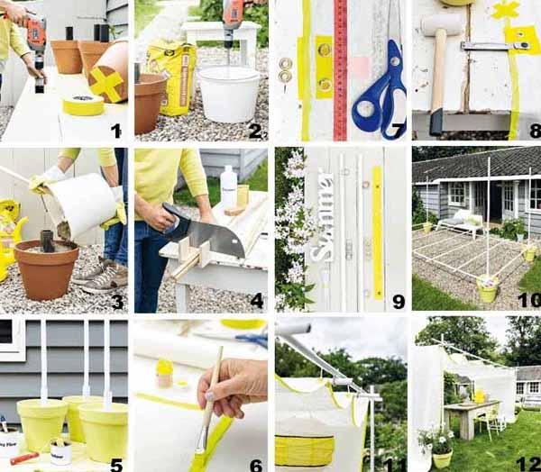 садовая мебель как быстро сделать навес