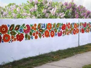 красивая дача забор