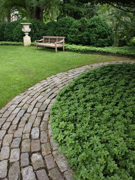 красивый дизайн сада своими руками-скамейка
