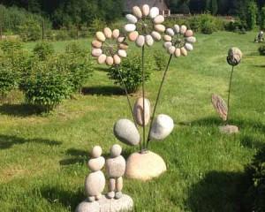необычные поделки для дачи своими руками из камней