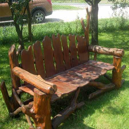 садовая мебель из коряг и веток