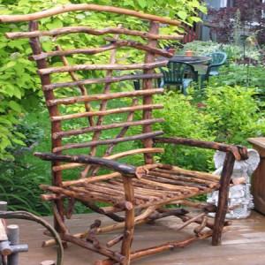 садовая мебель из дерева - кресло из веток